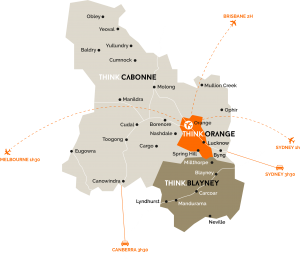 Map of Orange Region